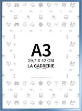 cadre a3 bleu en aluminium