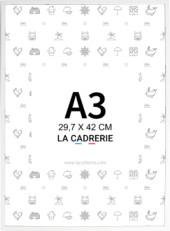 cadre a3 aluminium blanc