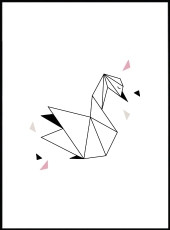 Affiche cygne origami