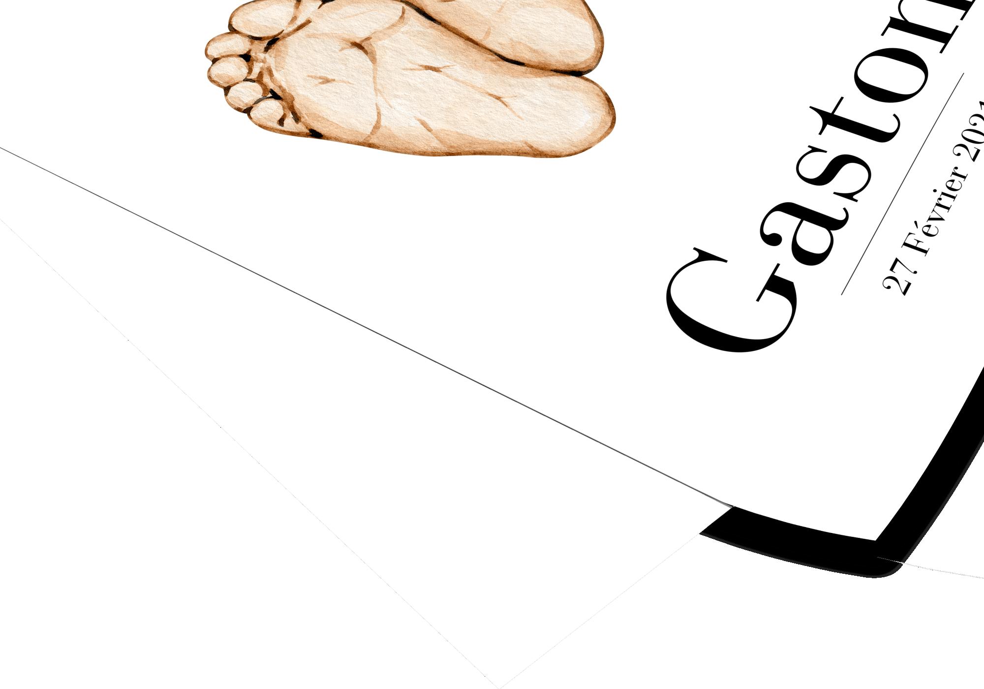 Poster pieds de bébé personnalisable parfait comme souvenir de naissance.
