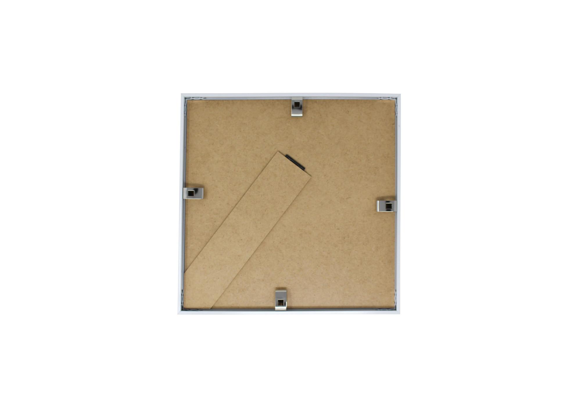 Cadre carré de dos en blanc au format 20x20cm
