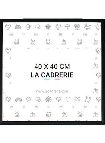 Cadre carré noir au format 40x40cm
