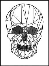 poster tête de mort origami