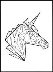 affiche licorne origami