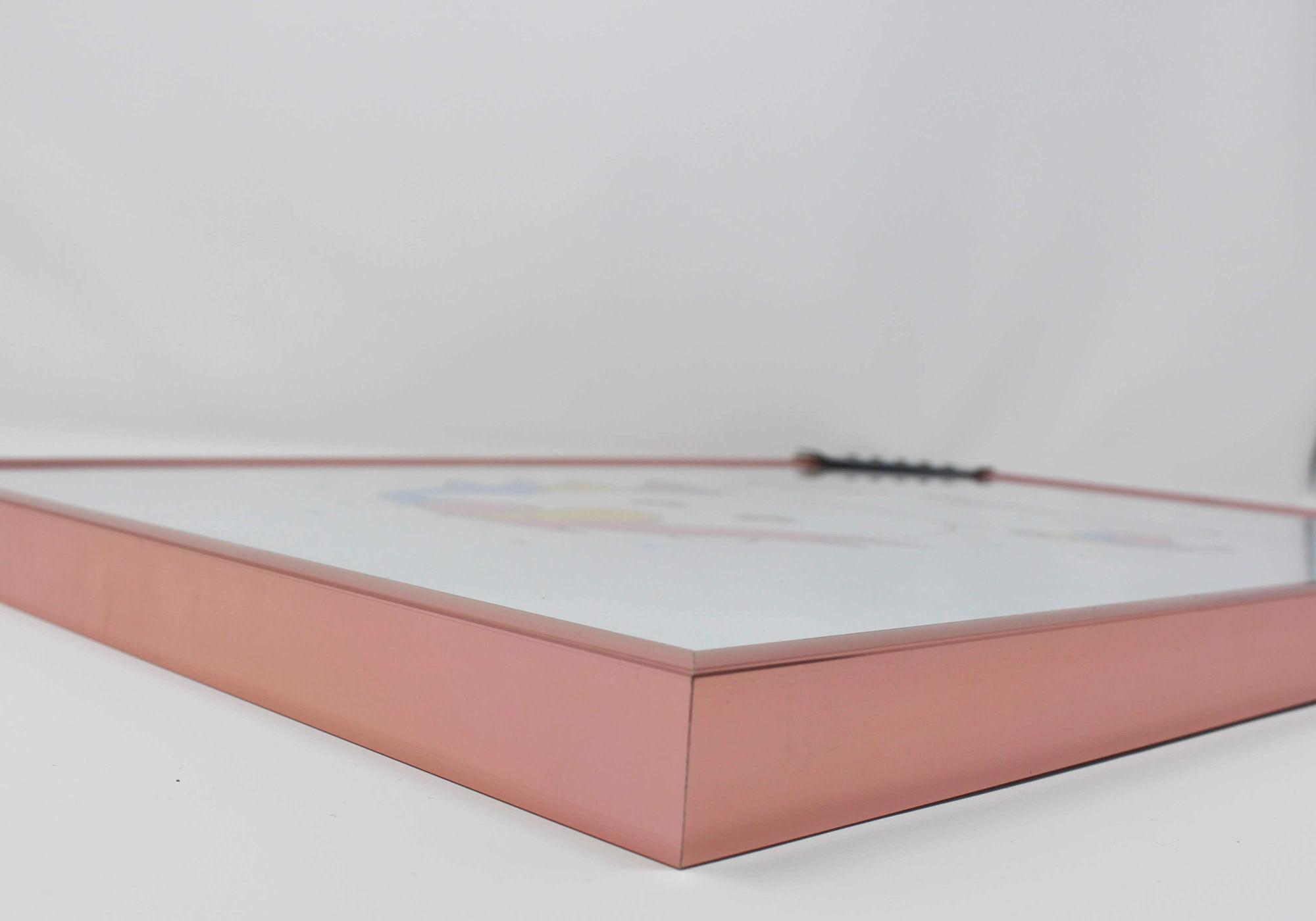tranche cadre rose doré 14,8x21 cm