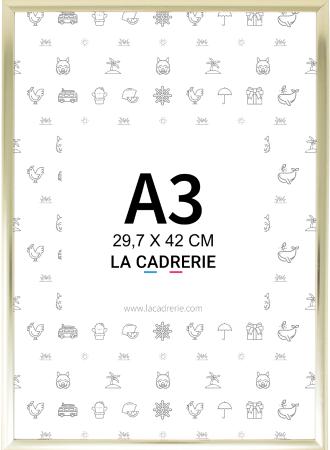 Photo de cadre A3 doré - 29,7x42 cm