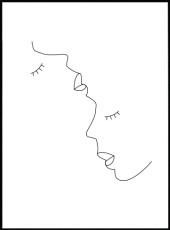 Affiche visage line art