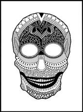 Affiche tête de mort en mandala