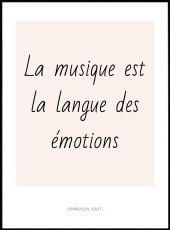 Affiche citation Emmanuel Kant la musique est la langue des émotions.
