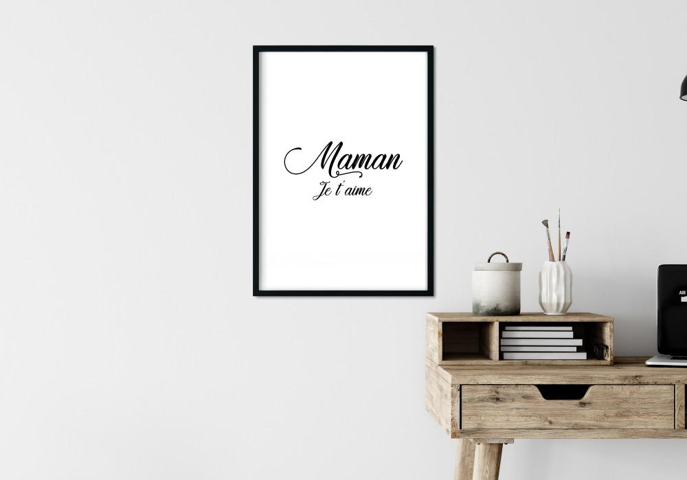 Poster en noir et blanc pour les mamans