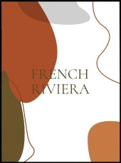 affiche terracotta inscription french riviera