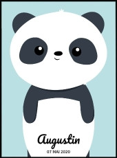 Affiche prénom personnalisable panda