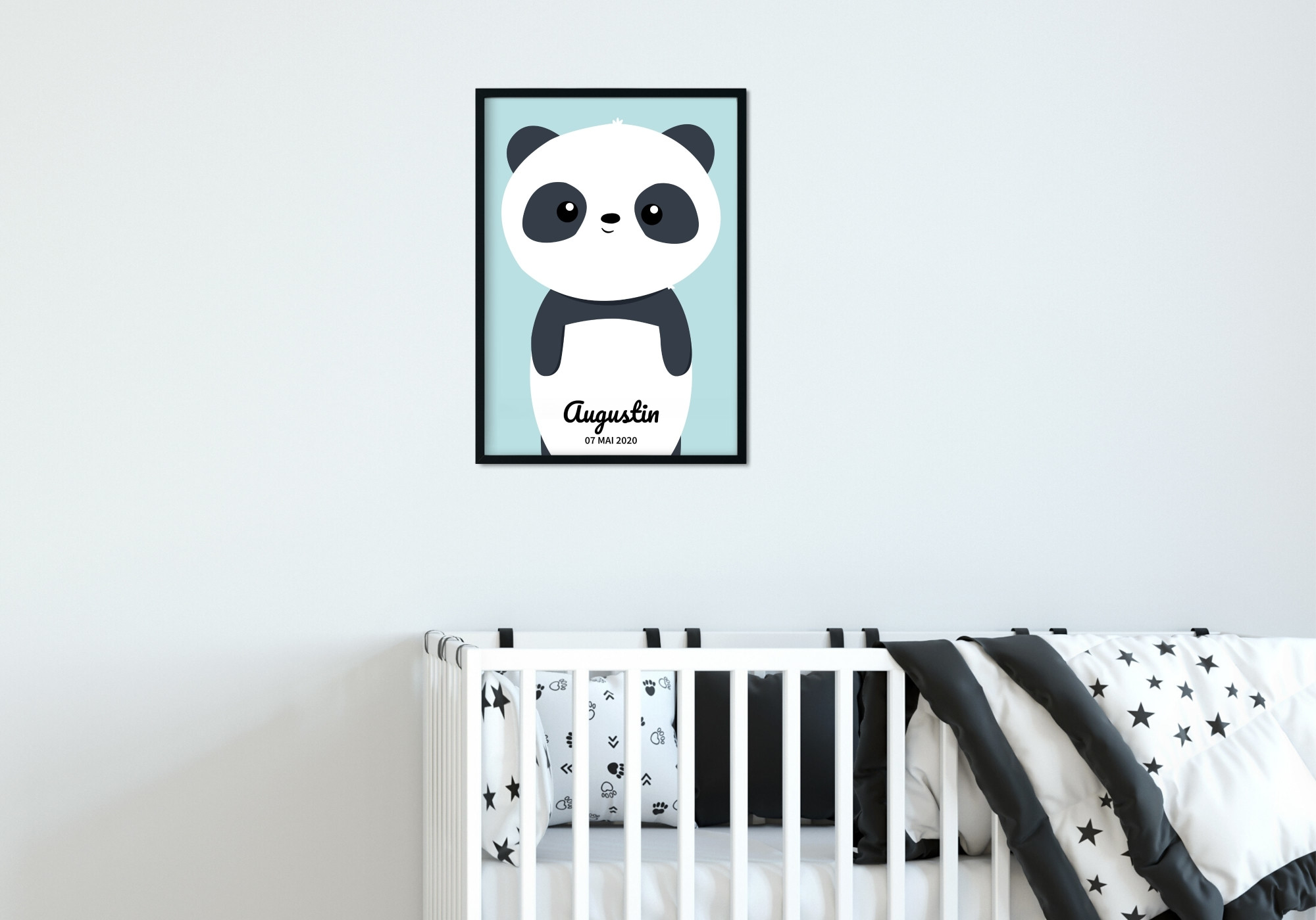 Poster panda personnalisable